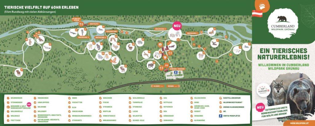 Lageplan Cumberland Wildpark Grünau