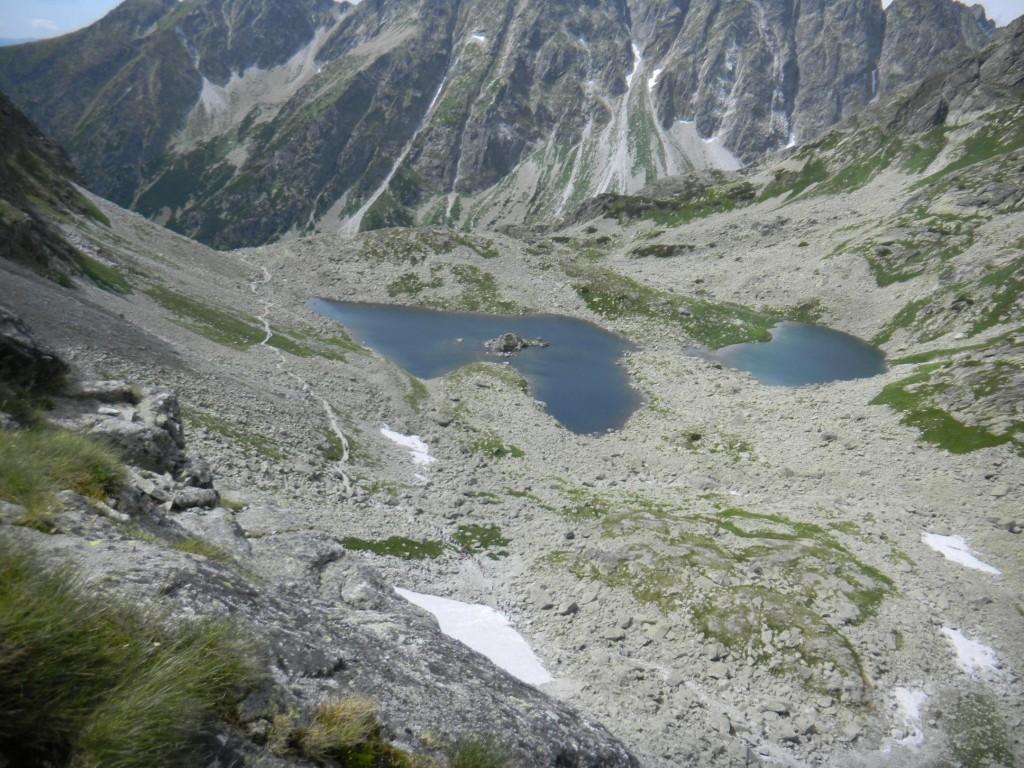 Blick auf den Bergsee Žabie plesá